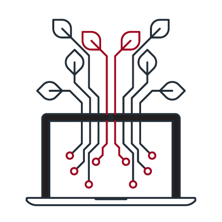 laptop networking icon