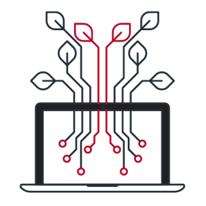 computer and its networking icon