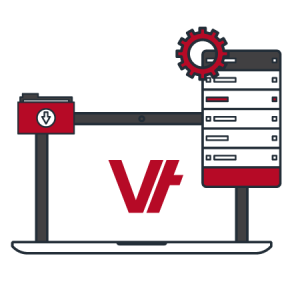 laptop icon with Vettrak logo