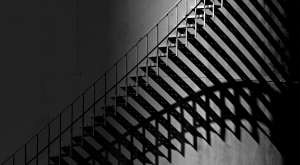 stairs with its shadow