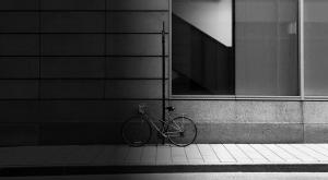 locked bike outside business school