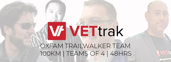 VETtrak OxFam Trailwalker Team
